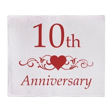 10th wedding anniversary 10th wedding anniversary throw blanket by pixelstreetann