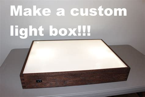 backlit film for light box how to build a light box youtube