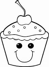 Cupcake Cartoon Drawing Coloring Cute Pages Drawings Draw Paintingvalley Colouring Funny sketch template