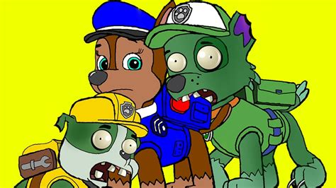 coloring pages paw patrol transforms  zombie zombie bites paw patrol  youtube