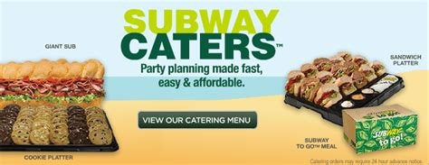 subway catering  catering menu prices