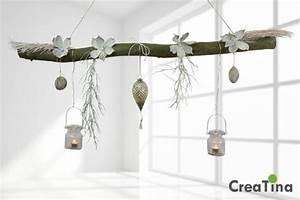 Fensterdeko Zum Aufhängen : ast aus buchenholz zum aufh ngen mit glasornament von creatina deko auf ast ~ Frokenaadalensverden.com Haus und Dekorationen