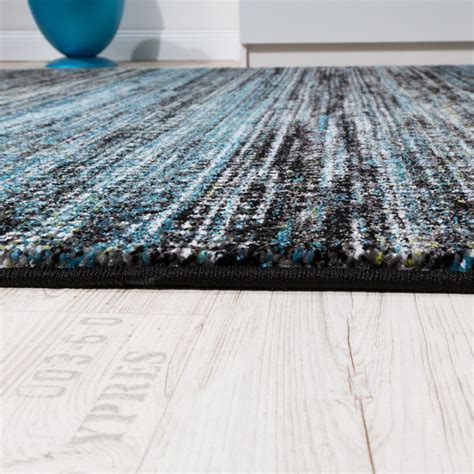 tapis moderne salle de sejour turquoise gris noir tapis