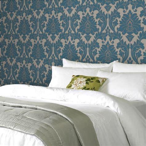 graham brown majestic damask black white wallpaper
