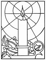 Coloring Pages Church Candles Printable Christmas Colouring Candle Bing sketch template