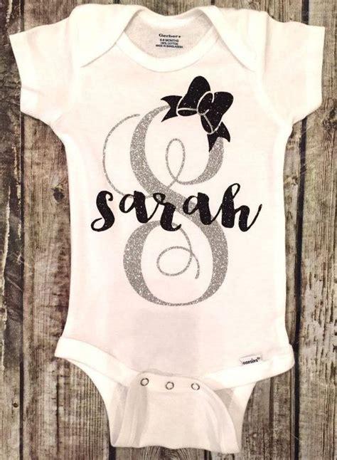 personalized baby onesie monogram  ebay baby girl shirts personalized baby onesies