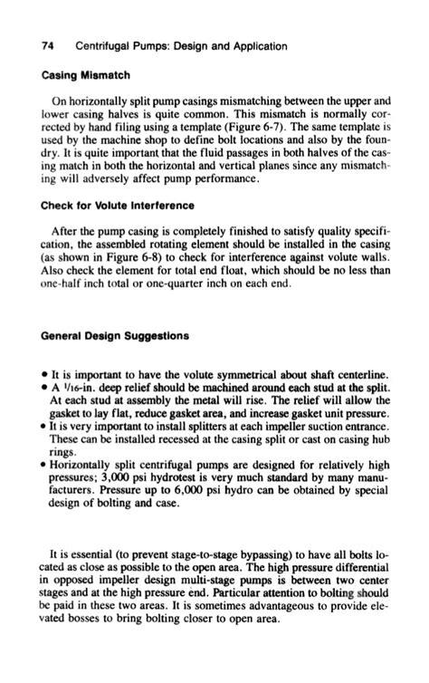 Centrifugalpumps design applicatications handbook