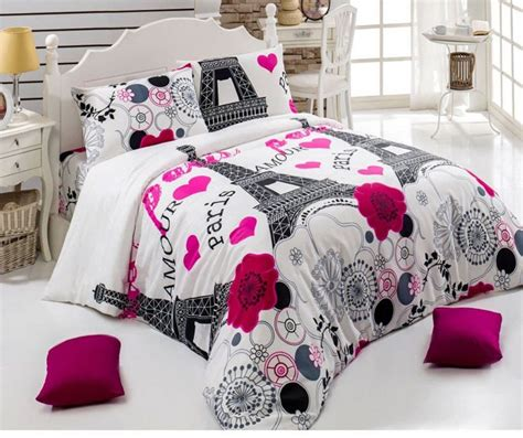 paris comforter set full bedding find beautiful eiffel tower damask themed bedding