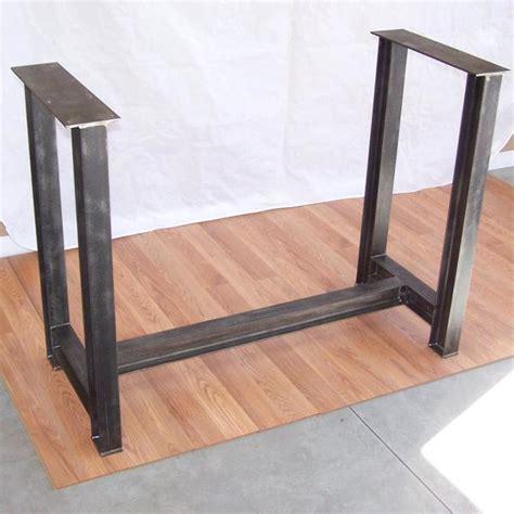 iron kitchen table base industrial steel i beam bar base kitchen island heavy