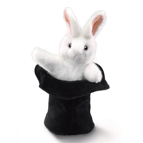 large rabbit  hat hand puppets  folkmanis puppets