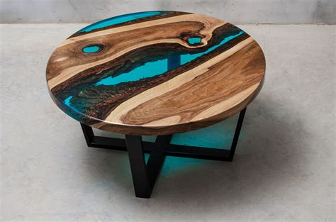 aria bespoke resin coffee table modern wood collections