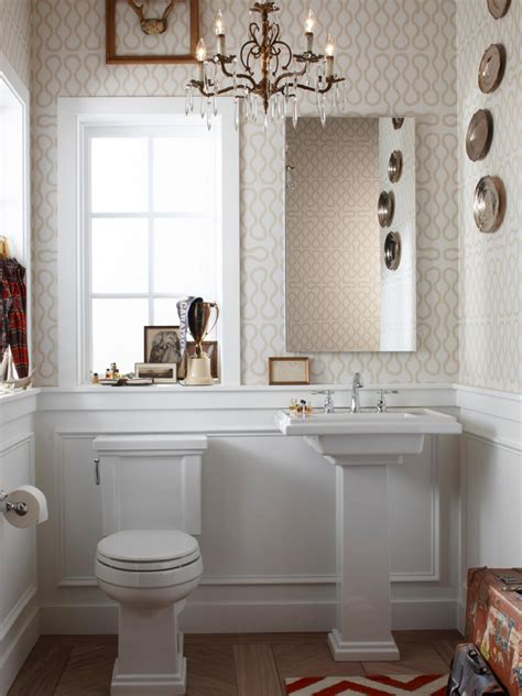 bathroom powder room ideas half bathroom or powder room hgtv