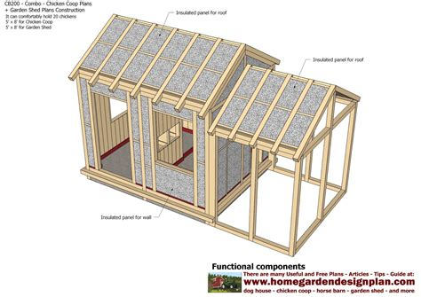 shed plans building cb200 combo plans chicken coop plans