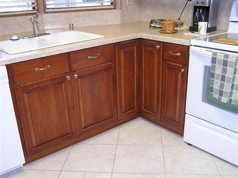 mobile home kitchen cabinets mobile home kitchen made out of maple cabinets and alder