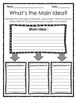 graphic organizer what s the main idea by the teacher treasury