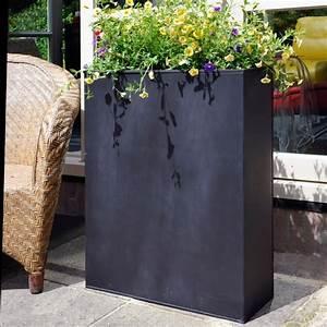 Bac A Fleur Muret : bac fleurs acier l80 h92 cm noir gamm vert ~ Premium-room.com Idées de Décoration