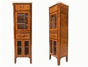 Vitrine En Bois : meuble vitrine en bois de placage style louis xvi ouvrant ~ Teatrodelosmanantiales.com Idées de Décoration