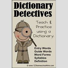 Dictionary Detective Center & Worksheets  2nd & 3rd Grade By Beth Gorden