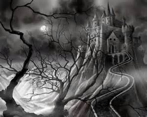 Dark Medieval Castle Drawing Art