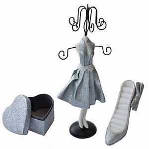 Porte Bijoux Mannequin : coffret porte bijoux 3 accessoires pour pendentifs bagues colliers ~ Teatrodelosmanantiales.com Idées de Décoration
