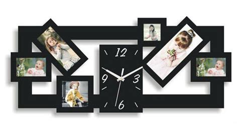 Colorful Photo Frame Wall Clock For Gift