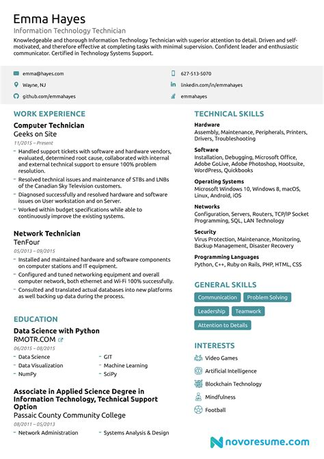 resume  guide examples