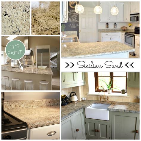 Painting Corian Countertops by Beautiful And Affordable Painted Countertops Diy