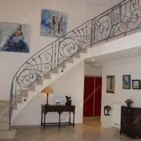 Rambarde Fer Forgé : rampes d 39 escalier en fer forg style art nouveau mod le ~ Dallasstarsshop.com Idées de Décoration