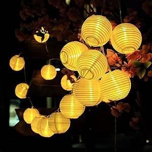 Lampion Lichterkette Solar : innootech solar lichterkette lampion 30leds 6 meter ~ Watch28wear.com Haus und Dekorationen