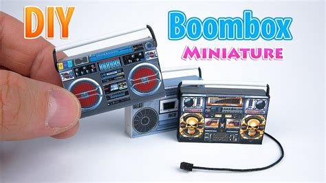 diy realistic miniature boombox dollhouse  polymer
