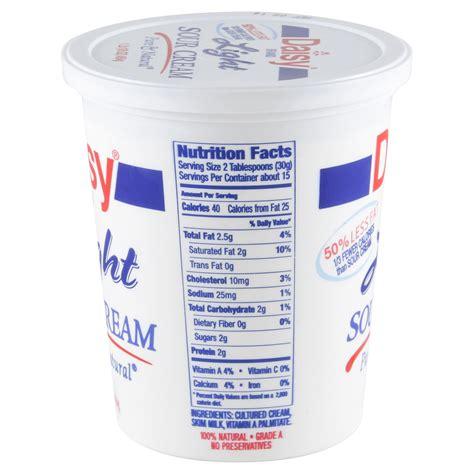 Daisy Sour Cream Nutritional Value Besto Blog