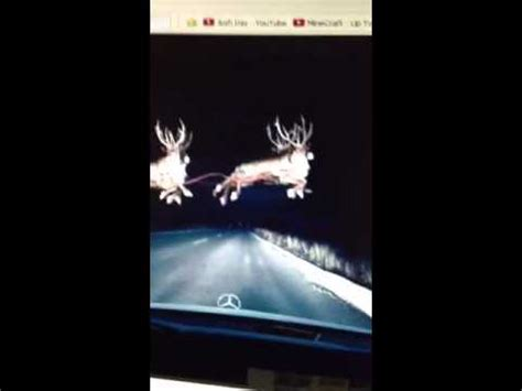 flying reindeer proof santa  real youtube