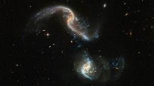 Hubble captures new image of two colliding galaxies ...