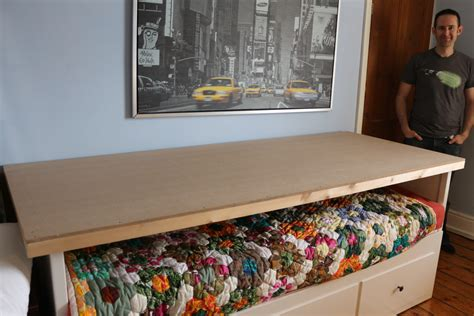 diy craft layout table   hemnes day bed baking