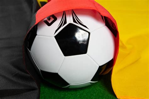 It is an ideal way to get in shape but also have fun without receiving too many injuries. Soccer ball with Germany flag