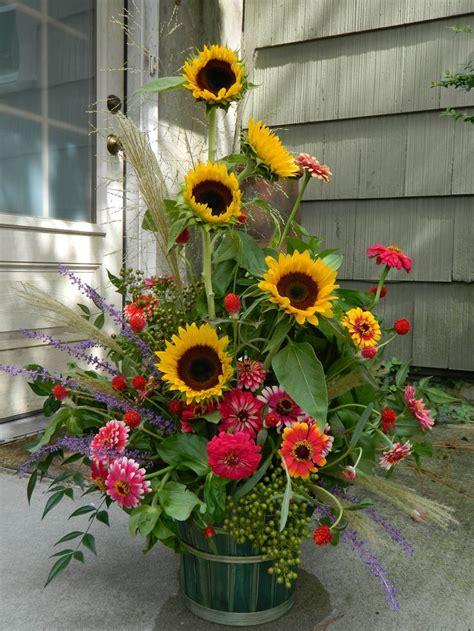 sunflower arrangements ideas  pinterest