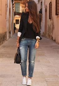 Black Ripped Jeans and Blazer