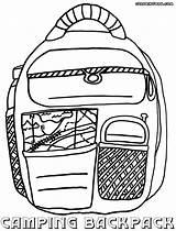 Backpack Coloring Backpack3 sketch template