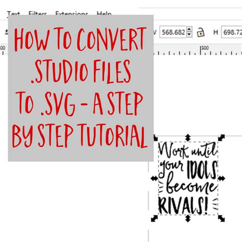 Picsvg is a free online converter that can convert an image to a svg file. How to Convert .studio or .studio3 to .svg from Silhouette ...