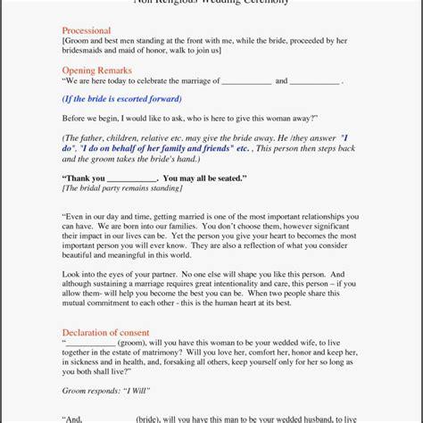 wedding officiant script non religious short wedding officiant script best image