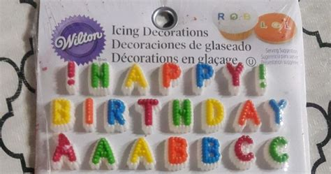wilton letters numbers edible icing decorations