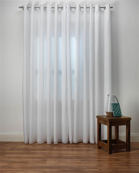 sheer lace curtain white lined voile curtains from curtains direct