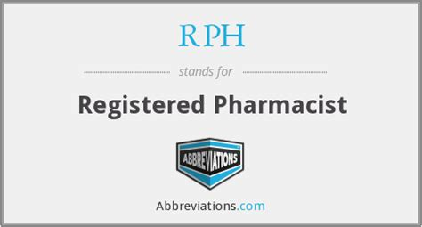 Registered Pharmacist by Rph Registered Pharmacist