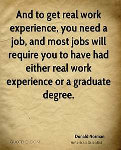 Job Experience ... Funny Work Experience Quotes