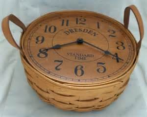 Longaberger Basket with Leather Handles