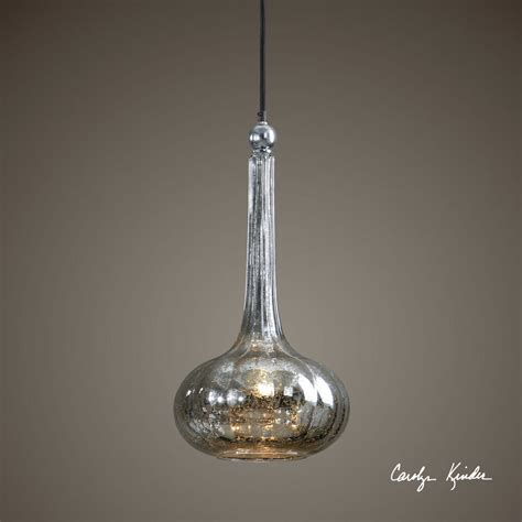 Mercury Glass Pendant Light Fixture by Mercury Glass Plated Nickel Hanging Pendant Ceiling Light