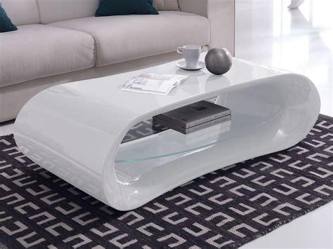 bureau design contemporain table basse design en verre longueur 130cm hayle blanc