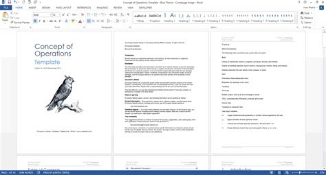 concept  operations template  ms word sample