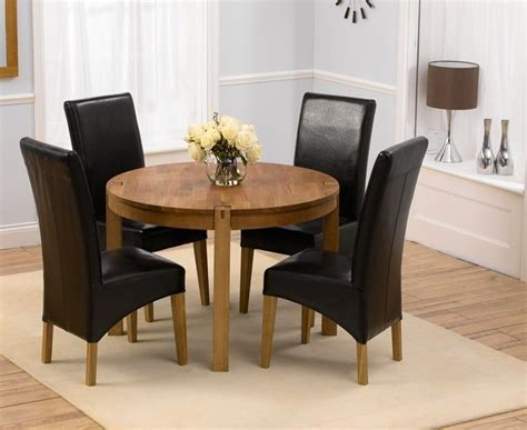 Top 20 Round Oak Dining Tables And 4 Chairs