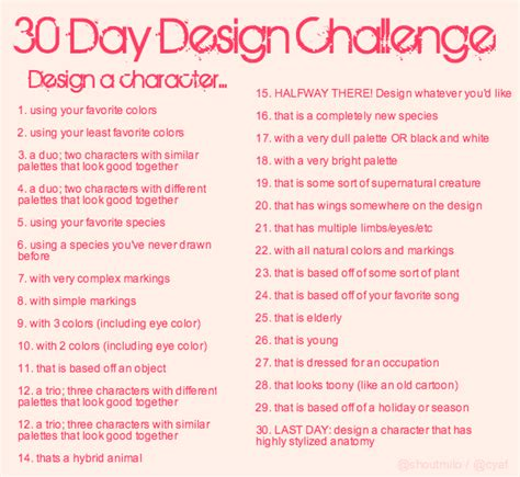 character design challenge meme favourites by stayria on deviantart